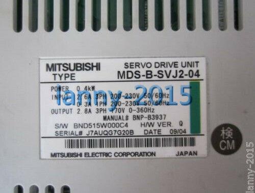 1pc Mitsubishi Mds-b-svj2-04 Servo Drive