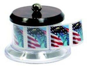 POSTAGE STAMP HOLDER DISPENSER HOLDS FULL ROLL OF 100 USPS STAMPS NEW