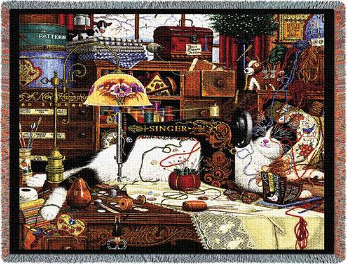 Throw Tapestry Afghan - Maggie the Messmaker 976