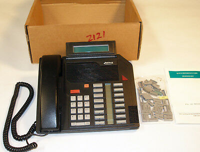 Nortel Meridian Black Ameritech M5216 Nt4x44 Business Phone Set With Keycaps