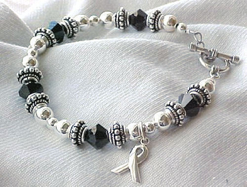 Awareness: Melanoma Cancer Awareness Bracelet w/ Swarovski