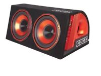 """EDGE 12"""" Double Twin Amplified Car Subwoofer 1800w"""