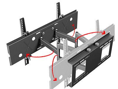 Manche Doppelarm-Wandhalterungen, wie hier die R06, verteilen die Last besonders stabil und ist ebenfalls schwenkbar