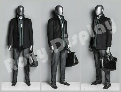 Male Fiberglass Egghead Mannequin Dress From Display Mz-ds001
