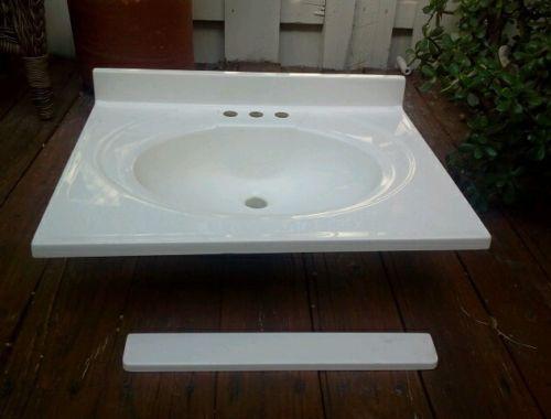 25 x 19 vanity top ebay for Premade granite bathroom vanity tops