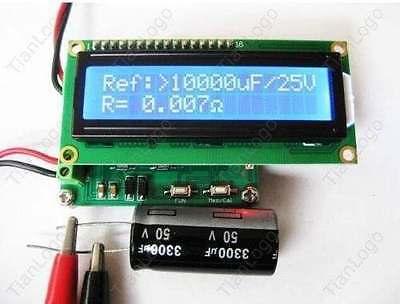 Battery Impedance Tester - Internal Battery Resistance Impedance Tester Voltmeter + In-ciruit Cap ESR Meter