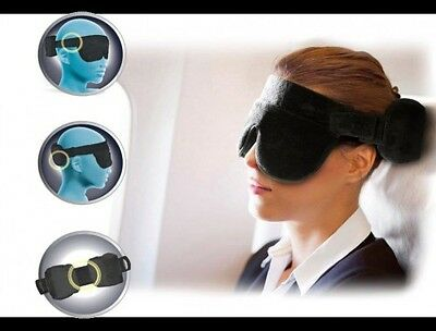 The Travel Halo, A Travel Pillow Alternative! With Sleep Mask and Earplugs