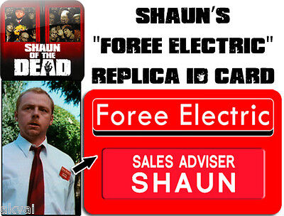 Shaun of the Dead Foree Electric Replica PVC ID card - Halloween costume prop](Shaun Of The Dead Halloween Costume)