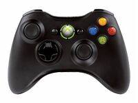 BLACK WIRELESS XBOX360 CONTROLLER / ALL CLEAN WORKING 100% / COMES WITH BATTERY PACK