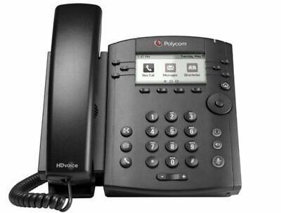 Polycom Vvx300 Lcd Business Phone Voip 2200-46135-001 Wstand Handset