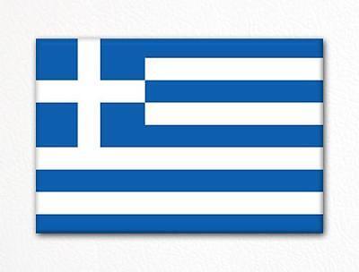 Flag of Greece Greek Flag Fridge Magnet ()