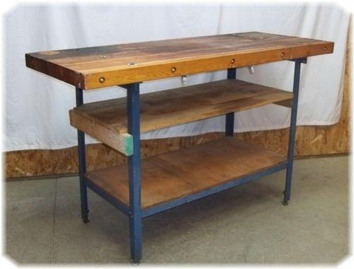 outstanding industrial kitchen island table | Industrial Kitchen Island | eBay