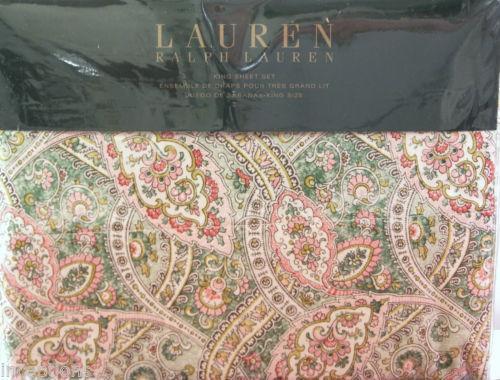 Ralph Lauren Paisley Sheets | EBay