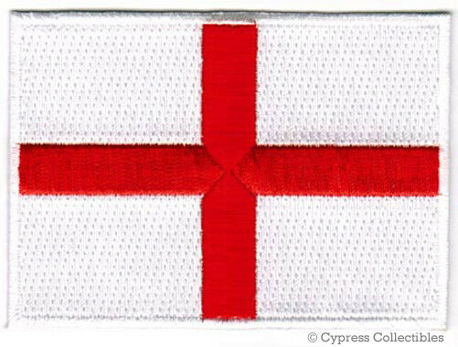 ENGLAND FLAG embroidered iron-on PATCH ST GEORGES CROSS UK Great Britain emblem