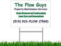 HIRING - Plow Truck Drivers - Snow Shovelers - General Labourers
