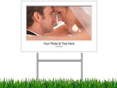 2 Personalized Yard LAWN SIGNS Sign CUSTOM  Baby Wedding  3 COLORS 2 Size - Baby Lawn Signs