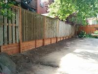 réparation de clôture de bois