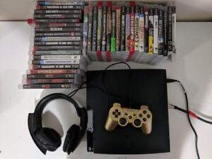 Great PS3 Slim 160GB Bundle (30+ Games, Controller, Headset)