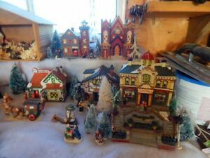 Beautiful Christmas village years in the making