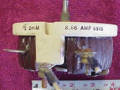 Two Memcor 2 Ohm 8.66 Amp Ceramic High Power Rheostat Resistor