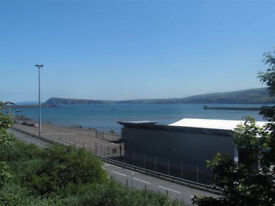 Attractive newly decorated one bedroom flat to rent overlooking the sea, Goodwick, Pembrokeshire