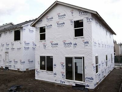 2 X 25 Ft. Foot Tyvek Underlayment Roll Siding Housewrap Insulation Waterproof