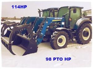 NEW HOLLAND T5.115 MFWD TRACTOR c/w 825TL LOADER