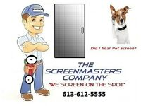 Door and Window Screen Repair by The ScreenMasters Company