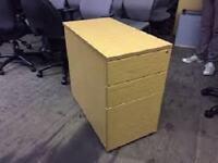 3 Drawer Lockable Desk High Pedestal + key - Can Deliver