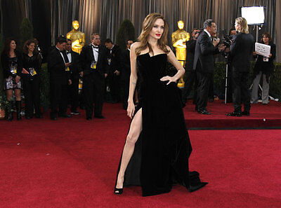 Jolie does it again in strapless glamour
