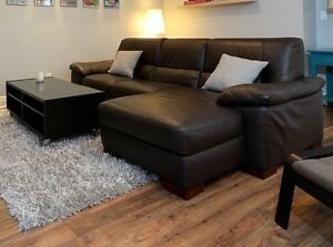 Leather sectional (Italsofa)