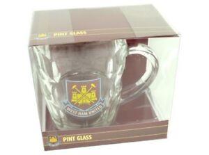 West Ham Utd FC - Glass Tankard ⚒⚒⚒ Excellent Christmas / Birthday Gift