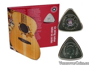 50 cent guitar pick coin