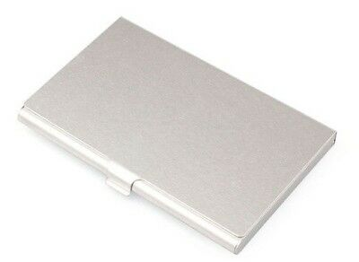 Metal Business Card Holder Case Id Credit Wallet Aluminum Silver