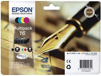 EPSON PEN & CROSSWORD ORIGINAL 4 PACK INKS. MULTIPACK T16