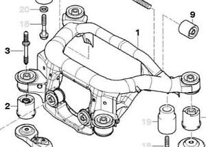 BMW E46/E85/E86 Subframes *No Rust/Cracks/Tears*