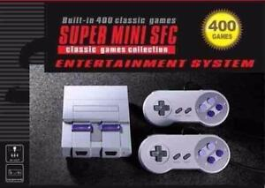 Super Mini SFC 400 Super Entertainment System With 400 Classic Games Built-In! Free Shipping!