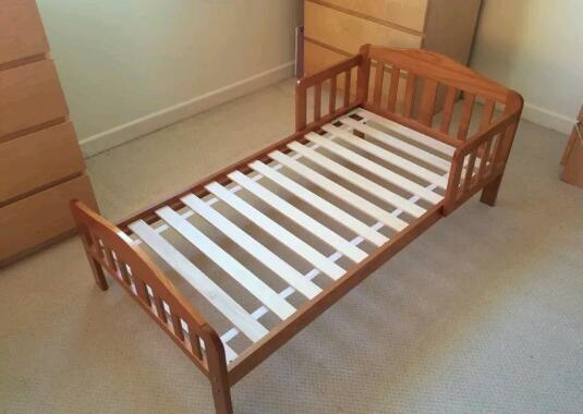 Solid Pine Toddler Bed From Mothercare Mattress Included