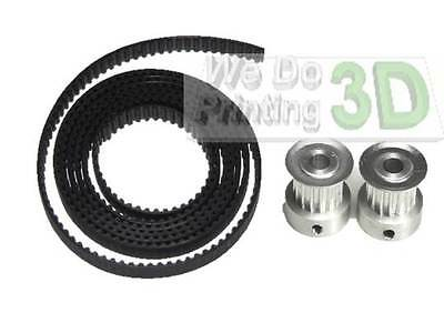 3D Printer GT2 Timing Belt and Pulleys 16 Teeth 5mm Shaft - Reprap