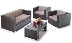 BONDI 4PCS PE WICKER OUTDOOR SOFA LOUNGE SET Furniture Auburn Auburn Area Preview