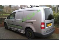 VW Camper - Caddy 2.0 TDi - with sink, table, opening roof window (double skinned), built in storage