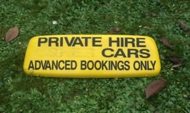 Private Hire Roof Sign