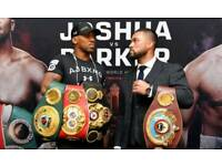 Anthony Joshua vs Joseph Parker Cardiff Hotel for 4 or 8 people