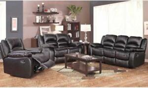 3 PC LEATHER AIR POWER RECLINER SOFA SET $2198