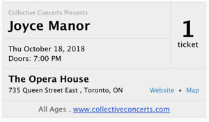 [October 18] Joyce Manor at The Opera House — SOON