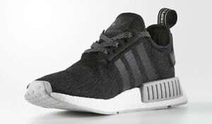 "*BRAND NEW* Adidas NMD R1 ""Black, Grey & White"" Size - 9.5"
