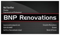 Drywall/Renovations: Experienced & Professional