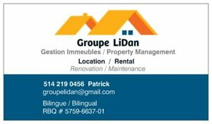 Service Maintenance , Renovation , Gestion Propriété