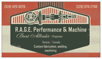 R.A.G.E. Performance and Machine