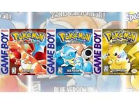WANTED Pokémon game for gameboy. Red/Blue/Yellow